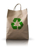 Front Brown Crumpled peper bag. Front of  Brown Crumpled peper Bag form the market Stock Images