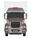 Front brown truck Stock Photos