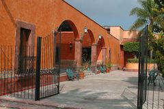 Front Building. At Town in Queretaro, Mexico Royalty Free Stock Image