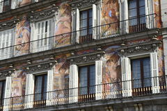 Front of the building in Plaza Mayor Madrid Royalty Free Stock Photo