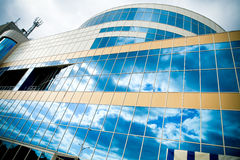 Front of building and sky Stock Image