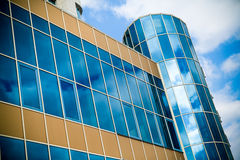 Front of building and sky Royalty Free Stock Images