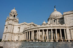 Front of building Victoria Memorial Hall in Kolkata Stock Photography