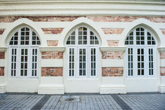 Front of building windows Royalty Free Stock Photos
