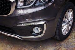 Front bumper dark grey color of luxury car Royalty Free Stock Photo