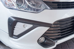 Front bumper with parking sensors. Front car bumper with parking sensors Stock Images