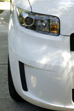 Front bumper of white car Stock Photo