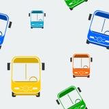 Front Bus Seamless Pattern Fotos de Stock Royalty Free