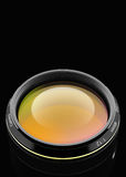 Front of the camera lens. Lens at close range in the background 3D rendering Royalty Free Stock Photo