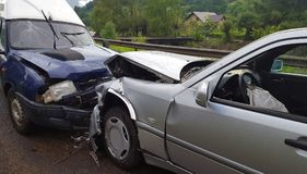 Front car accident royalty free stock image
