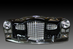 Front car details bumpers. Front car details isolated on a gradient background Stock Photos