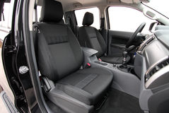 Front car seats. The front seats in a large pick-up Royalty Free Stock Photos