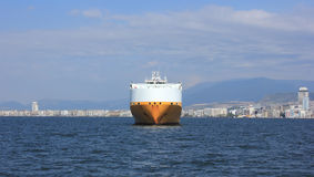 Front of cargo ship Royalty Free Stock Image