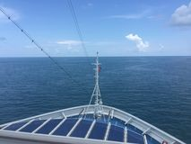Front Carnival Victory Cruise ship Royalty Free Stock Photo