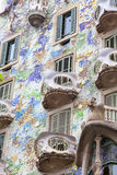 Front of Casa Batllo, Gaudi project , Barcelona, Spain Royalty Free Stock Photography