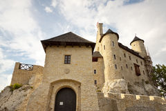 Front of castle in Bobolice - Poland, Silesia. Stock Photography