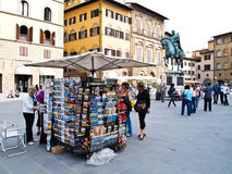 In front of Cathedral Santa Maria Florence, Italy Stock Images