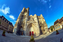 front of the Cathedral Troyes Royalty Free Stock Photos