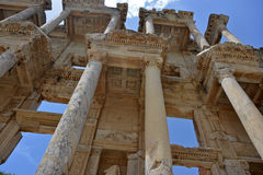 Front of Celsus Library in Ephesus Royalty Free Stock Image