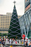 Front of Central World with Festival and Christmas decoration Stock Photos
