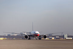 Front of an china cargo boeing 777 Royalty Free Stock Photography