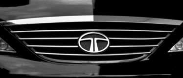 Front Grill of Tata Motors car royalty free stock photos