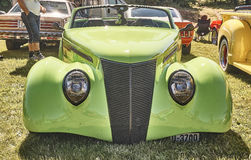 Front of the classic car in green royalty free stock images