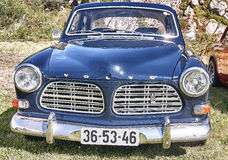 Front of the classic car in navy blue stock images