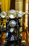 Front of Classic Motorcycle Stock Photography