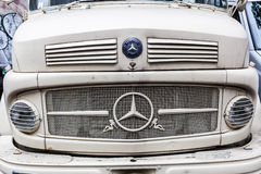 Front of a classical Mercedes Benz truck Royalty Free Stock Images