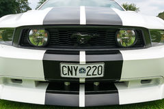 Front close view of Ford Mustang model 2010 Royalty Free Stock Photography