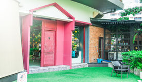 Front of the coffee shop in Bangkok. Thailand Royalty Free Stock Images