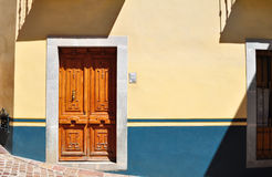 Front of an Colonial mexican house Stock Photography