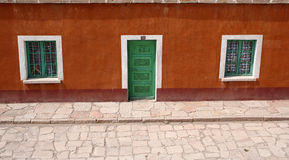 Front of a colourful andean house, Bolivia Stock Image