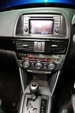 Front console of Mazda CX-5 during its launch Royalty Free Stock Photos