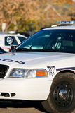 Front corner of police car Royalty Free Stock Photos