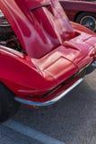Front Corner van een Rode Sportwagen Royalty-vrije Stock Afbeelding