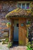 Front Cottage door. In cottage village stock image