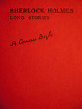 Front cover of sherlock holmes long stories stock image