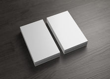 Front and cover 2 stack of vertical business cards Royalty Free Stock Image
