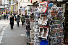 Front covers of International newspaper Royalty Free Stock Images