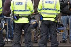 Front Demonstration national avec la grande présence policière Image libre de droits