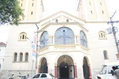 Front der Moschee in Sao-Paulo Brasilien Stockbild