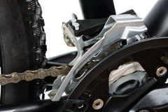 Front derailleur of MTB Stock Image