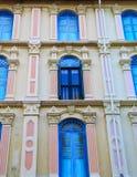 Front des Gebäudes in SG Stockbilder