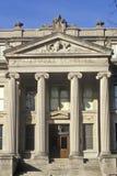 Front des Naturwissenschafts-Gebäudes an der Universität von Iowa, Iowa City, Iowa Stockbilder
