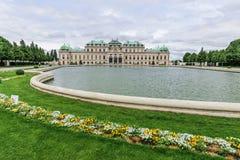 Front des oberen Belvedere in Wien, Österreich Stockbilder