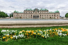 Front des oberen Belvedere in Wien, Österreich Stockfoto