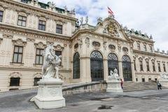 Front des oberen Belvedere in Wien, Österreich Lizenzfreie Stockbilder
