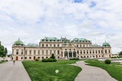 Front des oberen Belvedere in Wien, Österreich Lizenzfreie Stockfotos